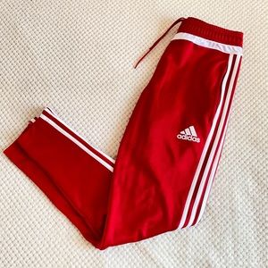 Red Adidas Tracksuit Pants